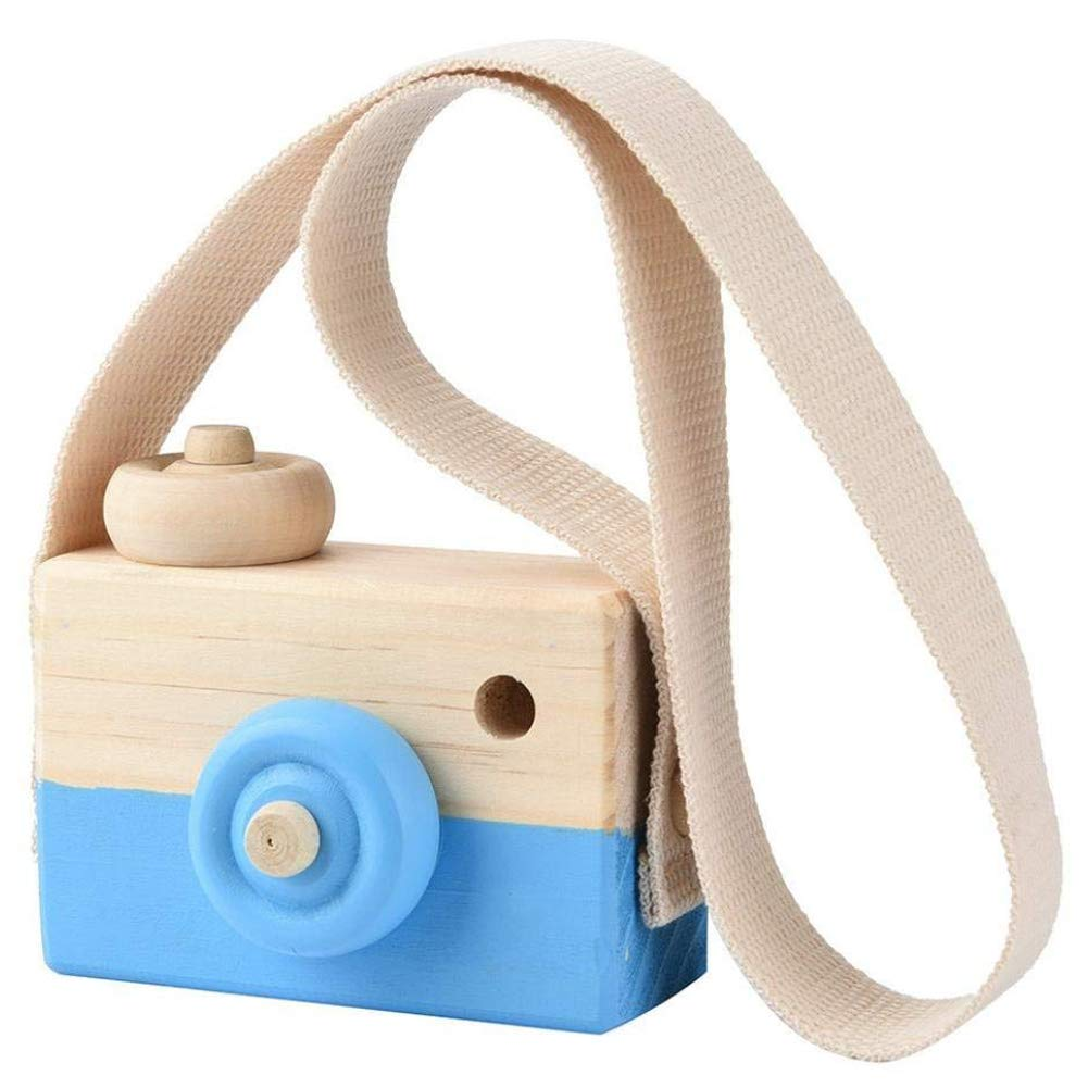 BIKITIQUE Wooden Mini Camera Toy Pillow Kids' Room Hanging Decor Portable Toy Gift