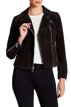 7e9dfaec7715 Amazon.com  BCBGeneration Genuine Suede Moto Jacket Chocolate ...