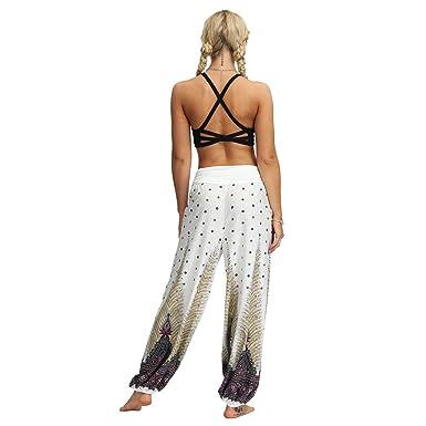 Amazon.com: Sunyastor Harem Pants Womens Hippie Trousers ...