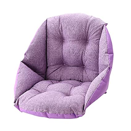 MSM Seat Cushioning, Chair nest Indoor Outdoor Chair Pads Sitting Cushions Sofa Wheelchair Back Chair Cushion Cover Seat pad-Purple 42x48x48cm