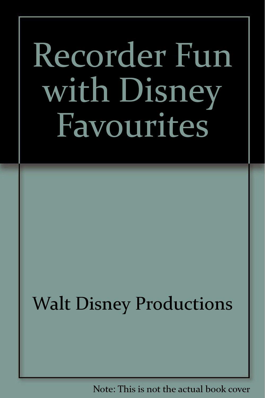 Recorder Fun Teach Yourself the Easy Way: Recorder, Recorder Fun Instruction Bk, Demonstration & Play Along Cassette, Walt Disney Favorite Song Book