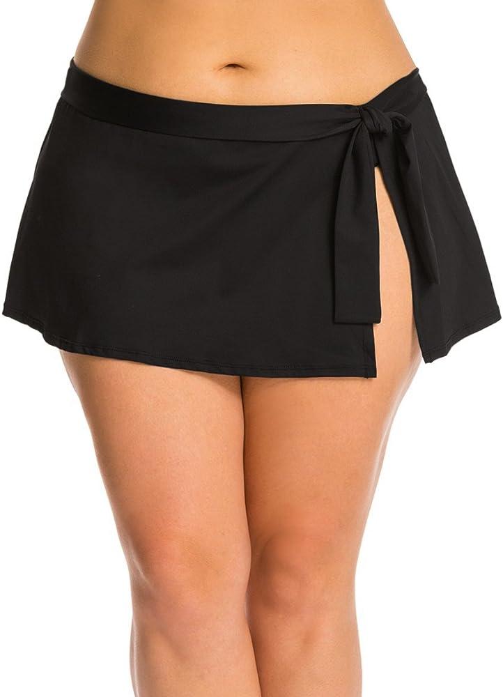 Traje Baño de Falda Bikini Tankini Mujer Pantalon Corto Talla ...