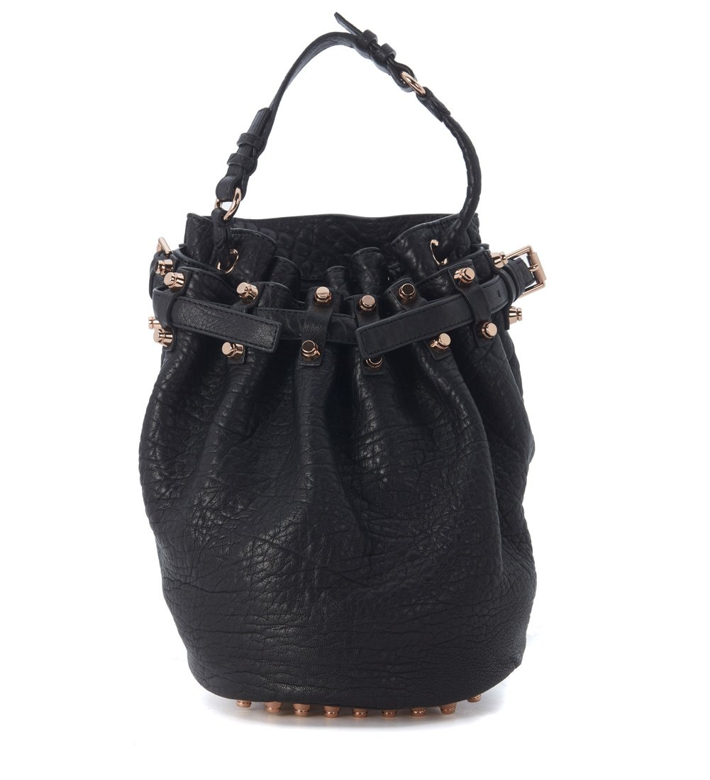 Alexander Wang Women's Alexander Wang Diego Bucket Bag In Fine Tumbled Black Leather Black