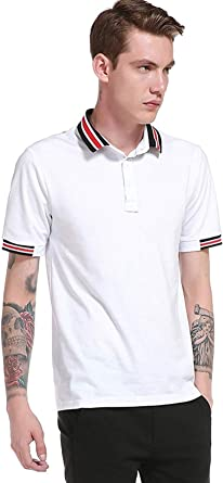 Camisa De Manga Corta De Polo De Manga Mode De Corta De Marca Polo De Los Hombres Camisas De Polo De Camisa De Manga Corta (Color : 9-White, Size : SG): Amazon.es: