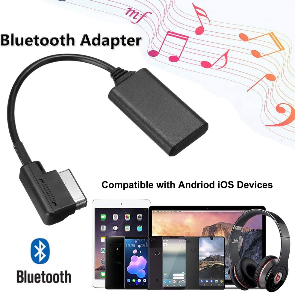 Black3 /… for MMI 3G Only Weletric AMI MMI MDI Interface Bluetooth 5.0 Audio Music Input Adapter AUX Receiver Cable Adapter for Audi Q5 A7 S5 Q7 A6 A8