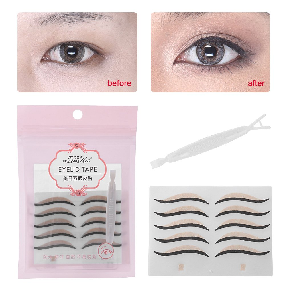 Eye Liner Stickers, Lameila 15Pairs/30PCS Black Eyeliner Makeup Adhesive Double Eyelid Tape for Droopy Eyes