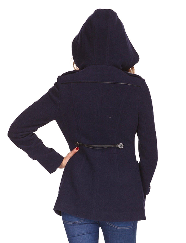 AC1208-Zareen Womens Wool Blend Duffle Coat with Hood