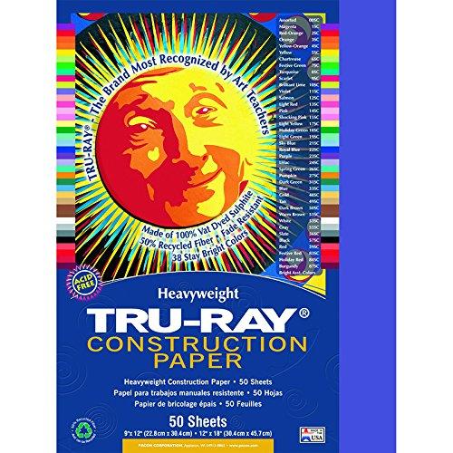 PACON CORPORATION TRU RAY 9 X 12 BLUE 50 SHT (Set of 24)