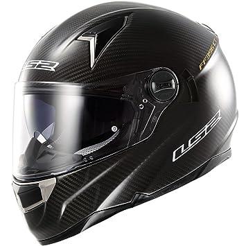 LS2 casco de moto Ff396 Ct2 único brillante Mono de carbono