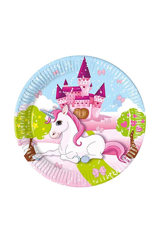 JT de licencias 1 A Fulfillment 85671 8 platos Unicorn para ...