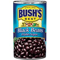 BUSH'S BEST Black Beans, 39 Ounce Can, Frijoles Negros, Canned Black Beans, Plant-based Protein and Fiber, Low Fat, Gluten Free, Cholesterol Free, Canned Beans