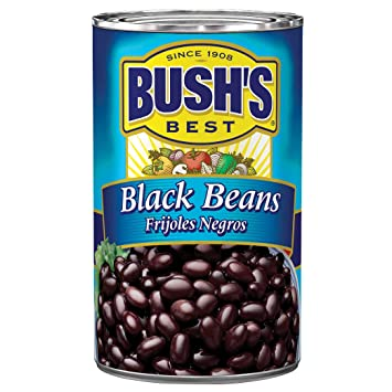 Amazon Com Bush S Best Canned Black Beans Source Of Plant Based Protein And Fiber Low Fat Gluten Free 39 Oz Prime Pantry