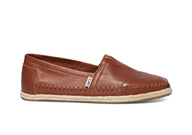 Toms Classics Cognac Full Grain Leather 10008380 Mens 9.5