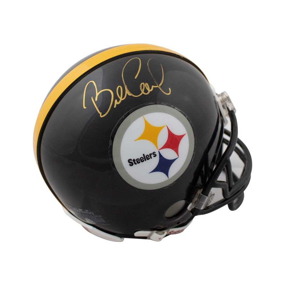 Bill Cowher Autographed Pittsburgh Steelers Mini Football Helmet - JSA COA Riddell