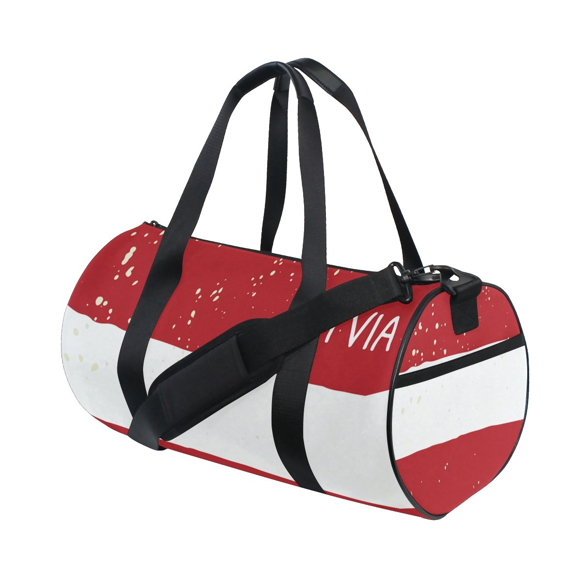Distressed Latvia Flag Travel Duffel Shoulder Bag ,Sports Gym Fitness Bags