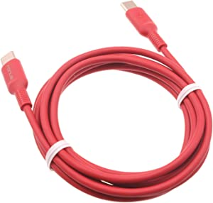 Red 6ft PD Cable USB-C to Type-C Fast Charger Cord Power Wire [C-to-C] Compatible with LG V50 ThinQ 5G - LG V60 ThinQ 5G - LG Velvet - Microsoft Lumia 950