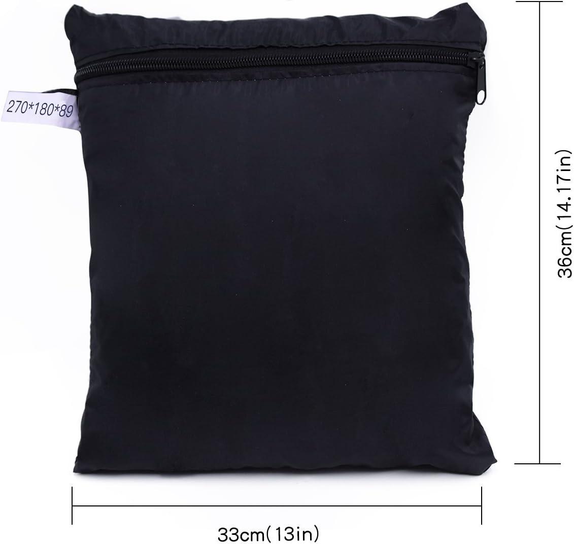 Buzazz Fundas de Muebles Oxford Tela Impermeable Resistente al Polvo Anti-UV Protecci/ón Exterior Muebles de Jard/ín Cubiertas de Mesa y Silla Negro 270 x 180 x 89 cm