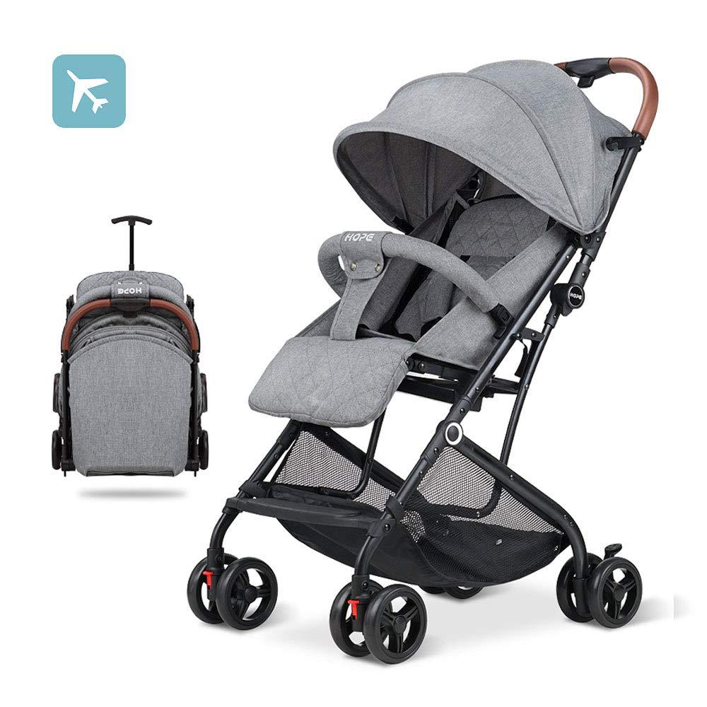 2019 Baby Stroller Lightweight Compact Travel Stroller One Hand Fold Umbrella Stroller Linen Fabric Full