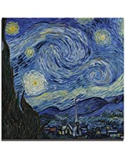 JP London Ready to Hang Made in North America Gallery Wrap Heavyweight Canvas Wall Art Van Gogh Starry Night 14in SQSCNV2289