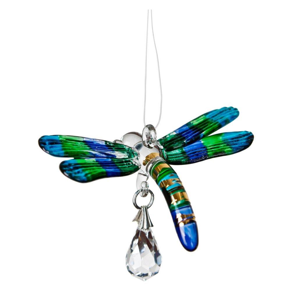 Woodstock Chimes Rainbow Maker - Fantasy Glass Dragonfly, Peacock