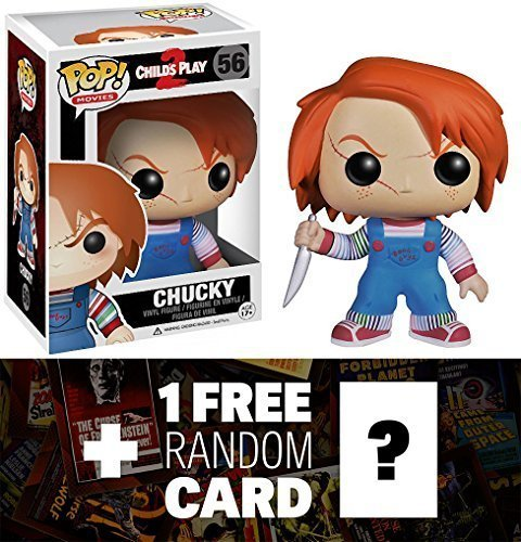 (Chucky: Funko POP! Horror Movies x Child's Play Vinyl Figure + 1 FREE Classic Sci-fi & Horror Movies Trading Card Bundle)