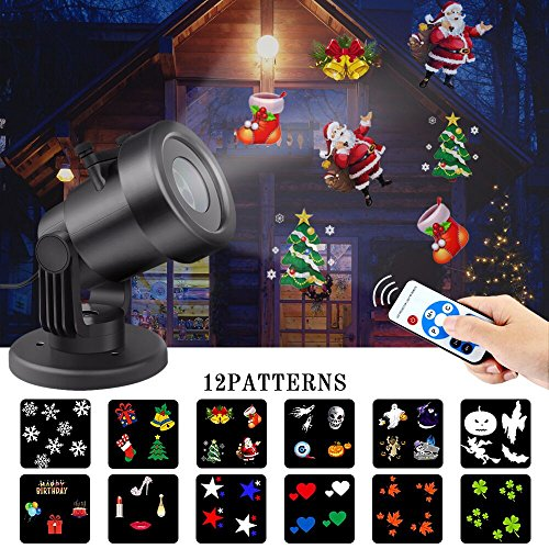 Christmas Light Projector Outdoor, Waterproof Led Snowflake Projector Lights with Remote Control Lighting Show for Theme Party, Halloween, Xmas Decoration of House Garden - 16' Abs Bath
