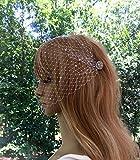 Wedding Crystal Bridal Wedding Veil, Birdcage Bridal Veil