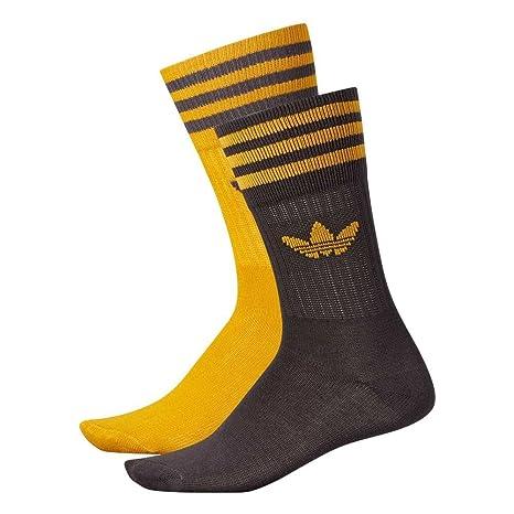 Adidas St Socks 2 PK Calcetines, Hombre, Amarillo (Stamnó/Neguti),