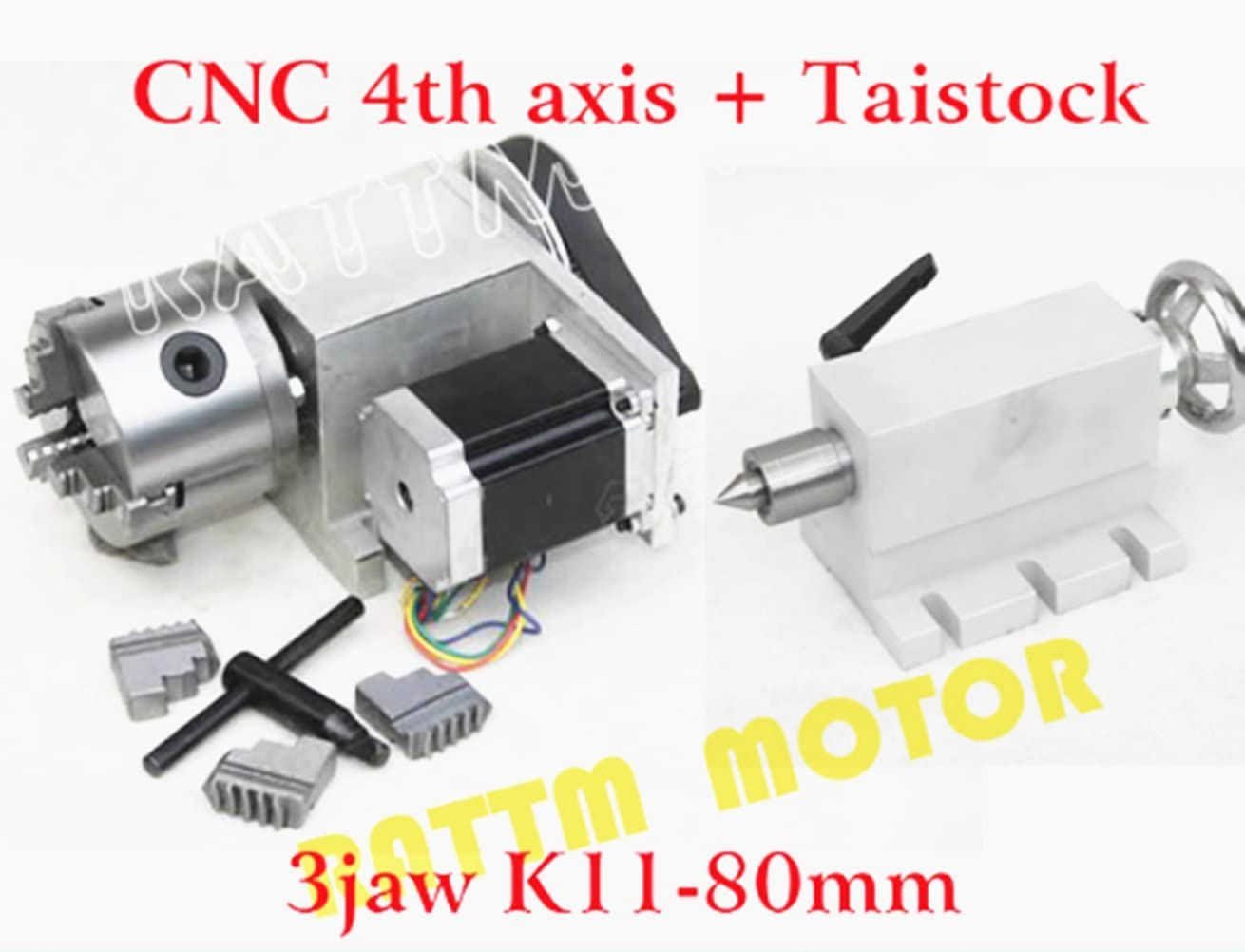 SALE!CNC Rotary Machines 4th Axis Tailstock 65MM With Axial Locking Wrench US