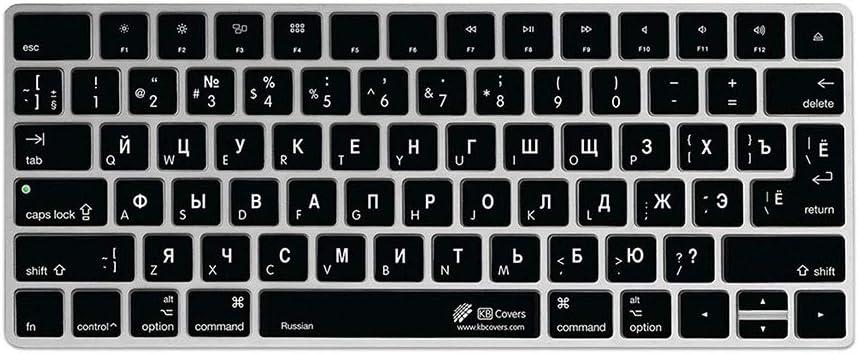 Cubierta del Teclado Ruso QWERTY ISO, para Apple Magic Keyboard sin Num Pad