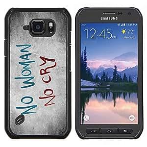 """Be-Star Único Patrón Plástico Duro Fundas Cover Cubre Hard Case Cover Para Samsung Galaxy S6 active / SM-G890 (NOT S6) ( Mujer Tristeza Cry Cita Slogan Heartbrake"""" )"""