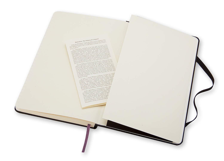 Moleskine 944350 - Cuaderno de tapa dura, de rayas, grande, negro