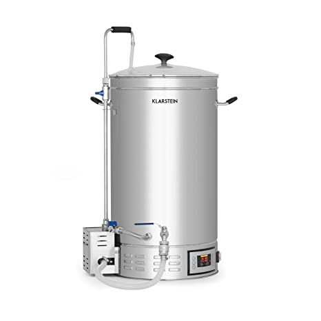 Klarstein Brauheld 35 Caldera de maceración • Juego de fermentación • Cerveza casera • 35 litros. Pasa ...