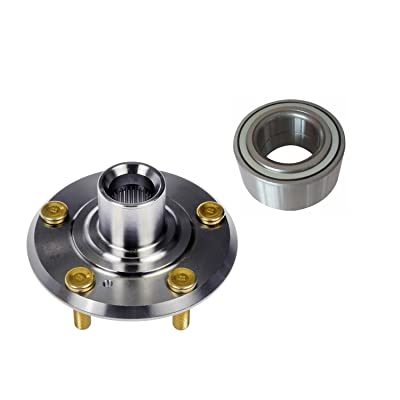 DTA D930-027+NT515050 Front Wheel Hub Wheel Bearing Kit Left or Right Fits 1997-2001 Honda CR-V, Prelude: Automotive