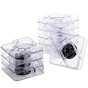 Bed Risers | Adjustable Table Risers or Furniture Risers| 8 pack| Clear| Uping