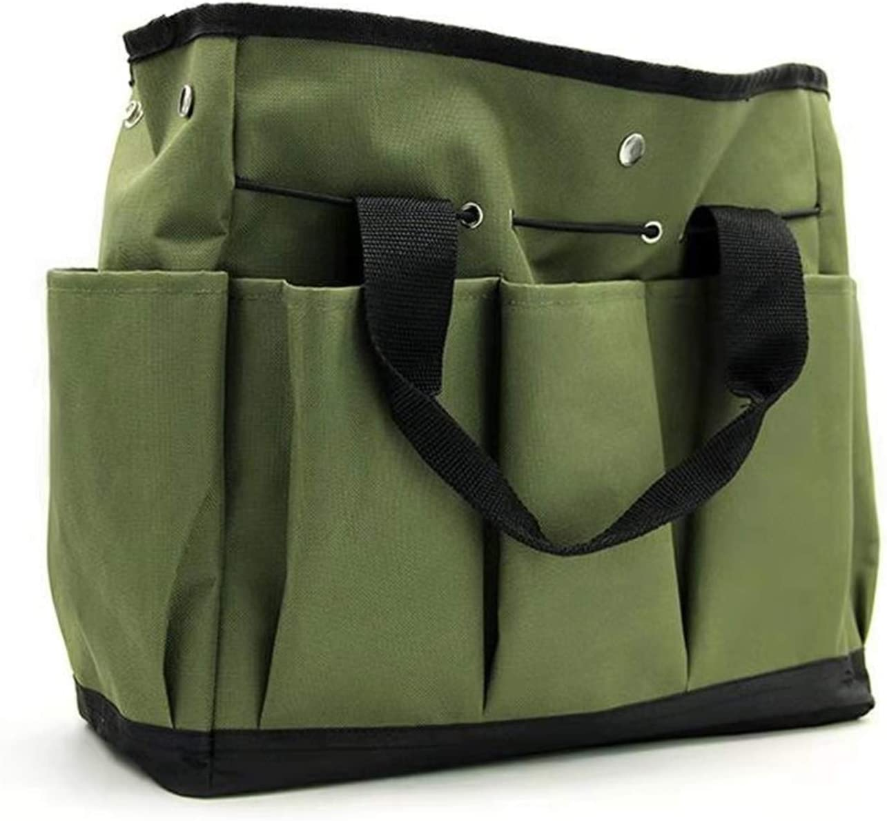 Garden Tool Bag Gardening Tool Organizer Gardening Tote Garden Tool Holder Garden Tool Pocket Garden Tool Carrier with 9 Pocket Dark Green Color(Not Include Tool)