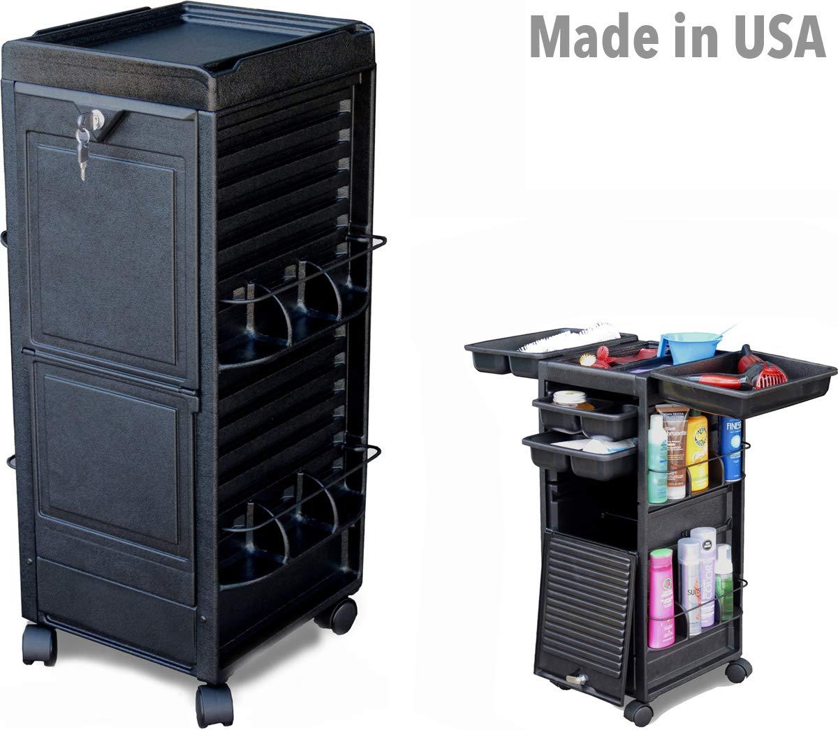 N20-P-Prime Salon Roll-About Cart Trolley w/Locking Door Made in USA Dina Meri