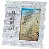 I Am With You Footprints Matthew 28:20 Wood 8 x 8 Photo Frame Plaque