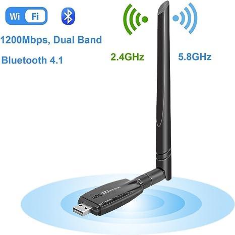 2.4//5G Dual Band Wireless WiFi Signal Reciever Transmitter Adapter Network Card