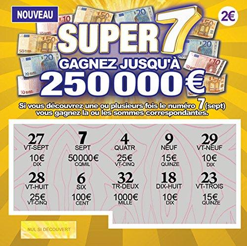 TA- Farces et Attrapes Fausses Cartes À Gratter Tickets De Loterie Gagnants pour Blague Canular X 5 - Tous Affiche Un Faux Gain DE 50.000 à 250.000