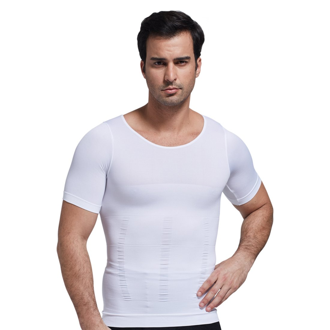 ZEROBODYS Mens Comfortable Body Shaper Compression Short Sleeve T-Shirt SS-M12