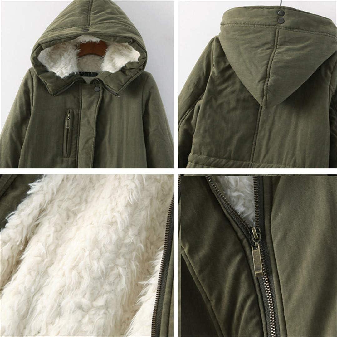 NMAS Jacket Thick Outwear Medium-Long Style Warm Winter Coat Women
