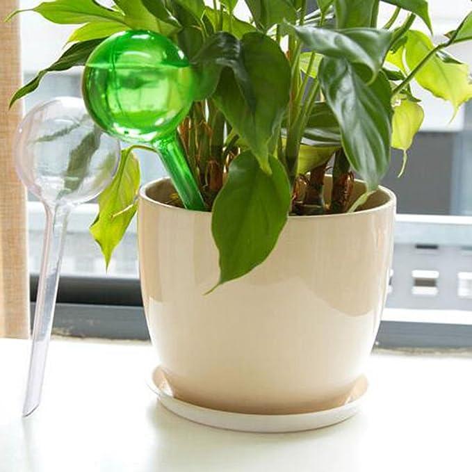 FAVOLOOK Bolas de riego para plantas, 4 unidades, automática autorriego, grandes y pequeñas bolas de PVC, sistema de riego para jardín y casa: Amazon.es: ...