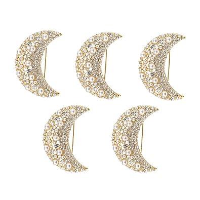 Amazon.com: Prettyia 5 piezas encantador Rhinestone Crescent ...