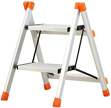 Escalera, escaleras plegables de la casa, escalera de mano de la escalera de dos etapas, escalera principal, pedestal de la cocina, escalera de la subida, plegable, fácil llevar: Amazon.es: Hogar