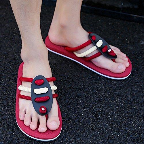 XIAOLIN Zapatillas para hombres Sandalias de verano Zapatos de playa para estudiantes Suela antideslizante Zapatillas Cool Europa y Estados Unidos (Tamaño opcional) ( Color : 01 , Tamaño : EU39/UK6.5/ 01