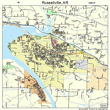 Russellville Arkansas Map.Amazon Com Large Street Road Map Of Russellville Arkansas Ar
