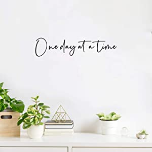 Vinyl Wall Art Decal - One Day at A Time - 4 x 18