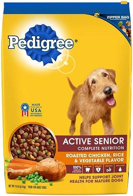 Amazon Com Pedigree Active Senior Roasted Chicken Rice