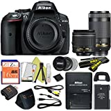 Nikon D5300 24.2 MP Digital SLR Camera (18-55 & 70-300, Retail Packaging)